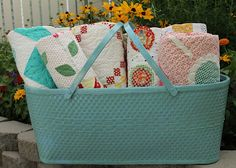 Oooh!! I passed up one of these, very LARGE baskets, at a thrift store, cause I couldn't think of what to do with it! Ugh!!