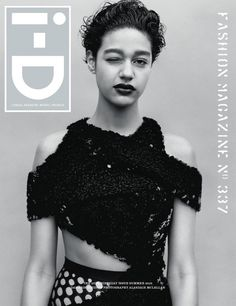 Damaris Goddrie covers i-D Magazine Summer 2015 wearing top and tights by Proenza Schouler photographed by Alasdair McLellan and styled by Marie Chaix