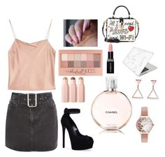"""Pinkish Style💕"" by mysterypandora on Polyvore featuring Alice + Olivia, Topshop, Casadei, Maybelline, Chanel, Smashbox, Dolce&Gabbana, Recover and Olivia Burton"