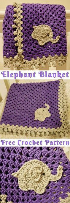 Crochet Elephant Blanket Free Pattern