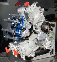 Suter MMX 500 - Reviving the Two-Stroke.Again - Asphalt & Rubber Motor Engine, Motorcycle Engine, Car Engine, Motorcycle Design, Bike Design, Race Engines, Combustion Engine, Go Kart, Custom Bikes