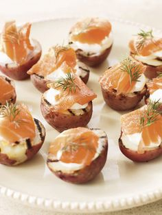 Get the recipe for Potato Halves with Smoked Salmon and Dill