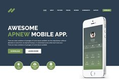 Apnew - Landing page WordPress Theme by DevItems on @creativemarket