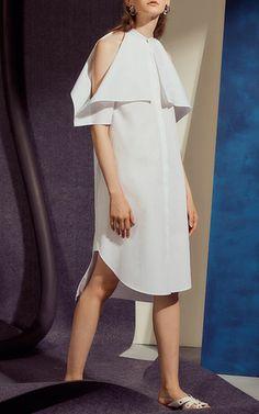 Foldover Shirt Dress by ROSETTA GETTY for Preorder on Moda Operandi