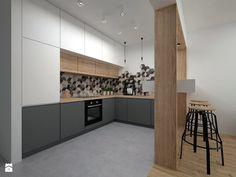 Mieszkanie - 40 m2 - Duża otwarta kuchnia w kształcie litery l, styl skandynawski - zdjęcie od BIG IDEA studio projektowe