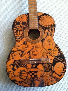Sharpie Guitar Kelly Parra Wood Ink Pen
