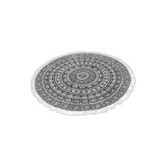 NOVICA 100% Cotton Beach Roundie with Black Mandala Design (48 BAM) ❤ liked on Polyvore featuring home, bed & bath, bedding, bedspreads and quilts, black and white, home decor, pillows & throws, black white bedding, paisley pattern bedding and black paisley bedding