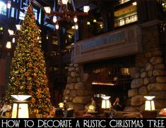 If you live in a rustic home, perhaps a log cabin or lodge style, a fancy designer Christmas tree would not be appropriate in your home.  A rustic home needs a rustic but elegant Christmas tree.  Here are the steps for how to decorate a rustic Christmas tree like a designer.