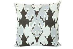 Grey Ikat Pillow Cover in Kelly Wearstler by ThePillowStudioShop