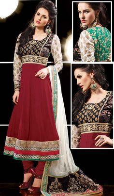 Delightful Dark Maroon Churidar Suit Item code : SLHN003  http://www.bharatplaza.com/new-arrivals/salwar-kameez/delightful-dark-maroon-churidar-suit-slhn003.html https://www.facebook.com/bharatplazaportal https://twitter.com/bharat_plaza