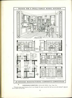 The Kitchen Plan Book, c. 1920  From the Association for Preservation Technology (APT) - Building Technology Heritage Library, an online archive of period architectural trade catalogs.