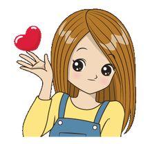 Cute Cartoon Drawings, Cute Cartoon Pictures, Cute Cartoon Girl, Gif Pictures, Cute Love Images, Cute Love Gif, Animated Cartoons, Animated Gif, I Miss You Cute