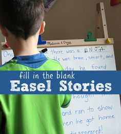 Fill in The Blanks Story - great for spelling, creativity and writing practice. { PLUS enter for a chance to win a Melissa&Doug Easel }