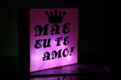 Diy Luminária Lightbox para o Dia das Mães