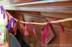 tied silk garland created for a baby blessing ceremony