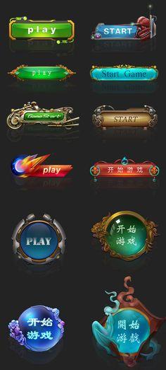 Web Design, Game Ui Design, Prop Design, Game Gui, Game Icon, Park Signage, Ui Buttons, 2d Game Art, Button Game