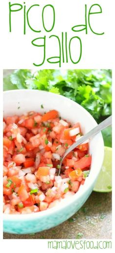 Pico de Gallo, or sometimes referred to as fresh salsa, is one of the most delicious things you can add to a meal. Don't wait for Taco Tuesday, make it now! Healthy Fruits, Healthy Eating, Healthy Recipes, Mexican Pork Recipes, Pollo Tropical, Cilantro Garlic Sauce, Fresh Salsa Recipe, Spicy Appetizers, Pico De Gallo