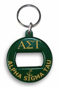 Alpha Sigma Tau Key Key Chain -  We all had these....with the letters worn off .....I miss mine :-(