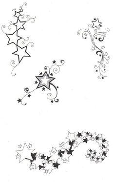 Online Tattoo Template Stars with Swirls and Tail tattoo, tattoo tatuagem, tattoo tatuagem feminina, Mini Tattoos, Star Foot Tattoos, Body Art Tattoos, New Tattoos, Cool Tattoos, Best Star Tattoos, Thigh Tattoos, Celtic Tattoos, Shooting Star Tattoo