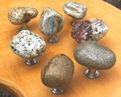 7 Stone Cabinet Knobs by twisprocks on Etsy