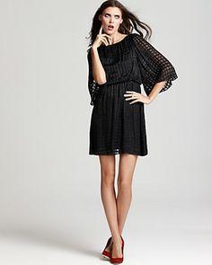 Alice + Olivia Yardley Bell Sleeve Long Sleeve Dress