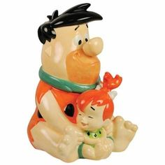 Flintstones Fred and Pebbles Cookie Jar