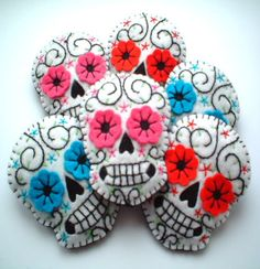 Day of the Dead. Check out this board with more ideas: http://pinterest.com/luluandk/needle-work/