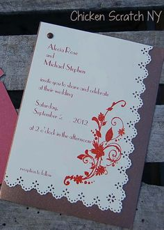 DIY Wedding Invitations - Embossing, paper punch, stamps, etc