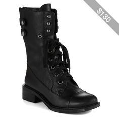 Sam Edelman Darwin Combat Boots Women's Black 9.5