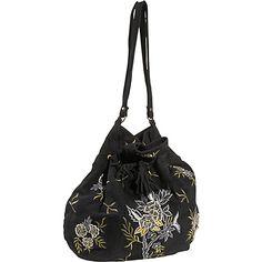 #Handbags, #LeatherHandbags, #MoynaHandbags - Moyna Handbags Embroidered Suede Bag Black - Moyna Handbags Leather Handbags