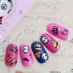 Superman Batman Nail Art Sheet Water Decal Transfer Decoration Sticker Polish By BeckysCornerShop On Etsy