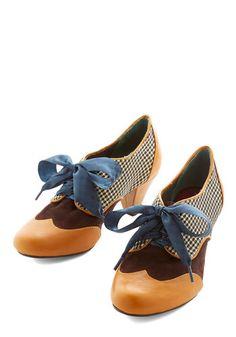 Poetic License Language Artist Heel in Caramel   Mod Retro Vintage Heels   ModCloth.com
