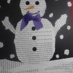 tapes d'hivern amb ninot de neu amb poema dins!