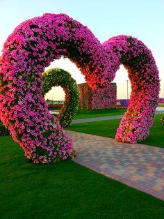 Miracle Flower Garden Dubai Hearts | Dubai Miracle Garden