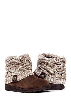 MUK LUKS | Patti Cable Cuff Boot | Nordstrom Rack