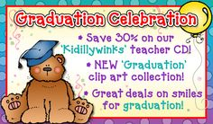 Happy Graduation everyone! Check out our happy sales (and freebie) available through May 13, 2015