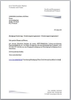 Kündigung Kredit Vorlage, Muster Kündigungsschreiben | Kündigung ...