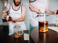 Peach and Pecan Bourbon.