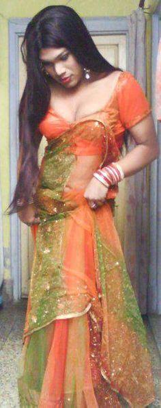 #shemale #crossdresser #indian #hijra #saree