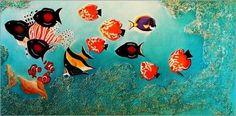 Poster / Leinwandbild Tropische Fische - ANOWI