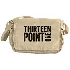 Thirteen Point One. 13.1. Half-Marathon. Messenger Bag.