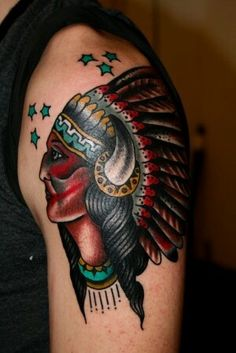 best native american tattoo native american girl touch up traditional tattoo pinterest. Black Bedroom Furniture Sets. Home Design Ideas