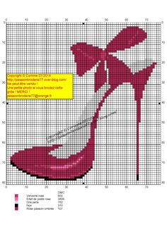 Cross stitch *♥* Chaussure talon rose