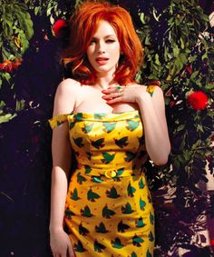 """Irish Red is """"in"""" for fall! #ChristinaHendricks does it like few!"""