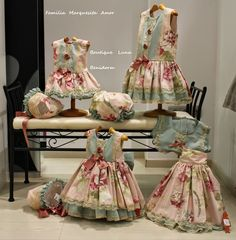 BOUTIQUE LUNA : LA MARQUESITA REAL VERANO 2015 Baby Girl Party Dresses, Little Girl Dresses, Baby Dress, Girls Boutique Dresses, Frocks For Girls, Baby Couture, Cute Outfits For Kids, Sweet Dress, Baby Boutique