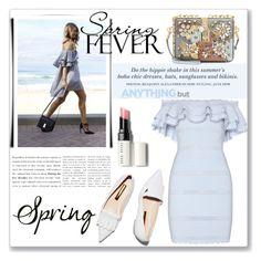 """spring fever"" by kriz-nambikatt ❤ liked on Polyvore featuring H&M, Alexander McQueen, Dolce&Gabbana, Rupert Sanderson, Bobbi Brown Cosmetics, springfashion and spring2016"