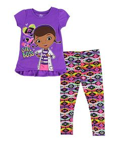 Dress your little one up for playtime fun with this darling tunic and leggings set featuring their favorite gal pal.