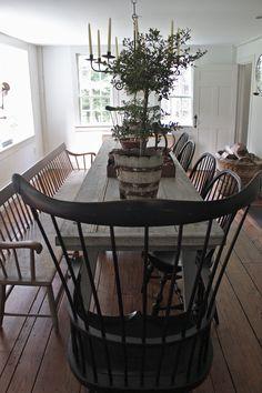 #Primitivediningroom :: Connecticut Country House