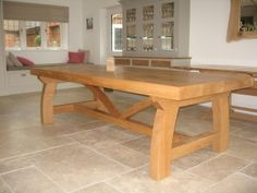 The Harlequin Dining Table - Rustic Oak Furniture
