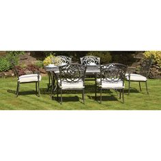 Chatsworth 6 Seater Dining Set With Cushions